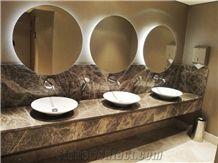 Fethiye Dark Emperador Marble Countertop, Best Selling Marble Countertop, Dark Emperador Bathroom Marble Countertop,Dark Marble Countertops, Coffe Brown Marble Vanity Tops, Ns-M3/D02