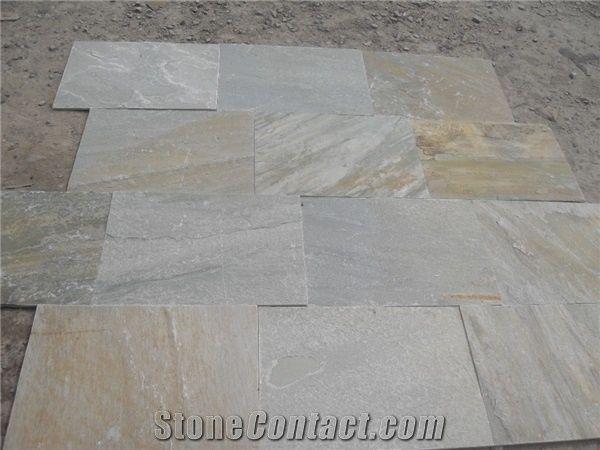 Hot Sales China Yellow Quartzite Tilesp014 Yellow Quartzite Floor