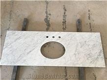 White Carrara Marble Bathroom Vanity Tops, White Marble Bath Tops