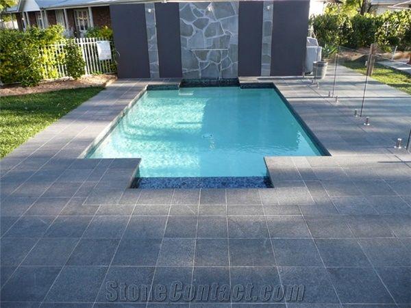 G684 Black Basalt Swimming Pool Tiles G684 Black Basalt
