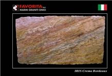 Iris Crema Bordeaux Granite Slabs