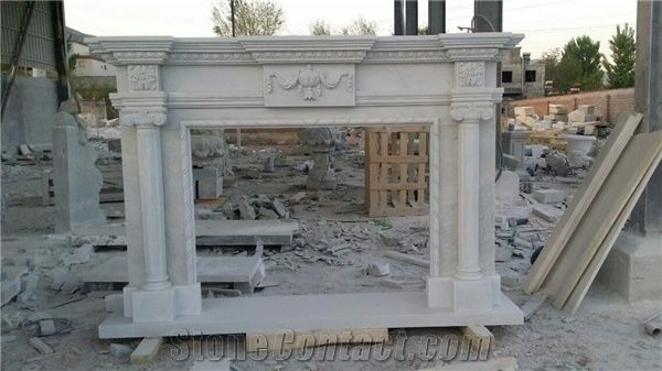 White Sandstone Hand Carving Fireplace Mantel Low Price ...