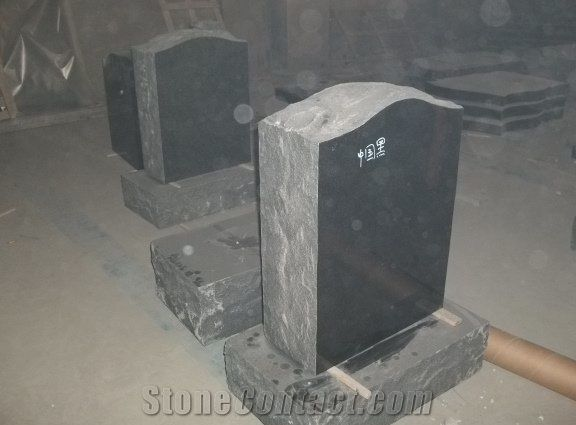 American Style China Black Granite Tombstones Monuments