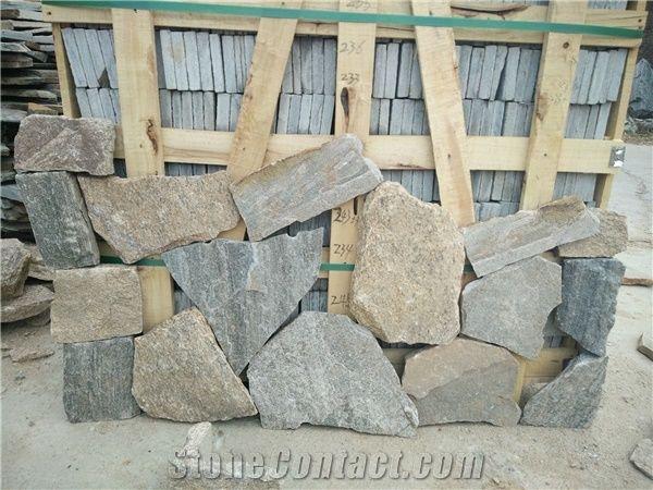 Grey Quartzite Random Flagstones, Flagstone Patio,Grey Irregular  Flagstones,Random Stone Patio Pavers,Crazy Stone, Landscaping Stones