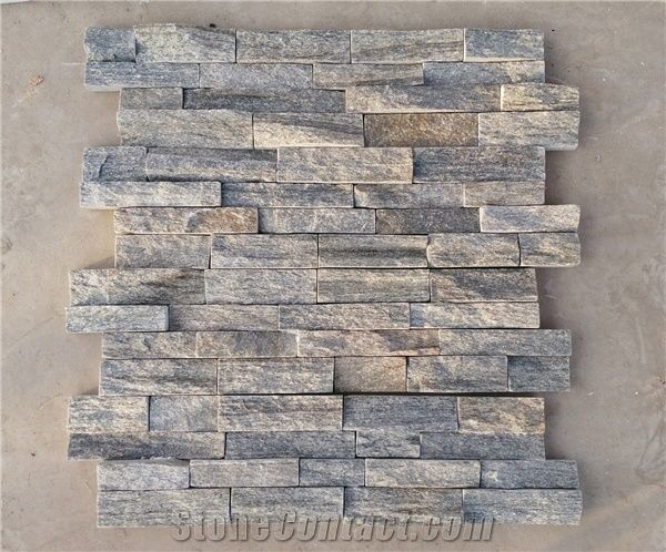 Wooden Vein With Rough Surface Wall Stone Cladding Prices