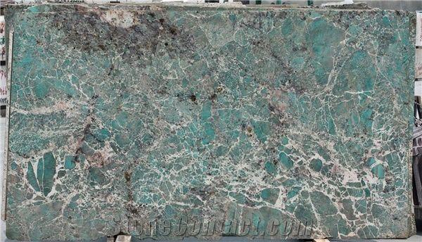Ocean Ice Blue Quartzite Slabs Amazon Green Quartzite