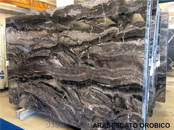 Arabescato Orobico Grigio Marble Tiles Slabs Grey