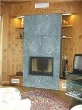 Pietra Ollare soapstone fireplace, grey soapstone fireplace surrounds