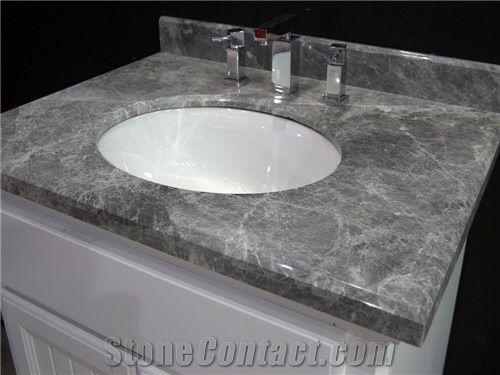 Abba Grey Marble Bath Tops Vanity