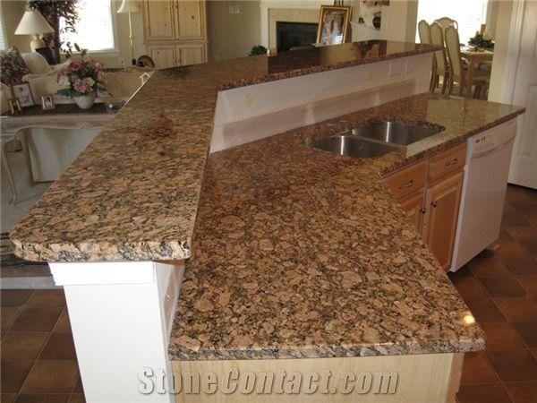 Giallo Fiorito Veneziano Yellow Granite Kitchen Countertops ...