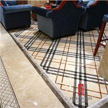 Botticino Water-Jet Marble Flooring Pattern