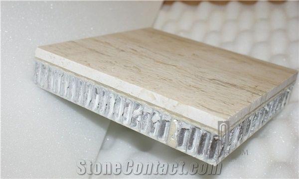White Aluminium Panel : Roman white travertine aluminium honeycomb panel stone compound