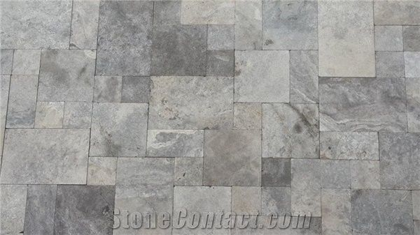 Silver Travertine Tiles Pattern Flooring Tiles Grey Travertine