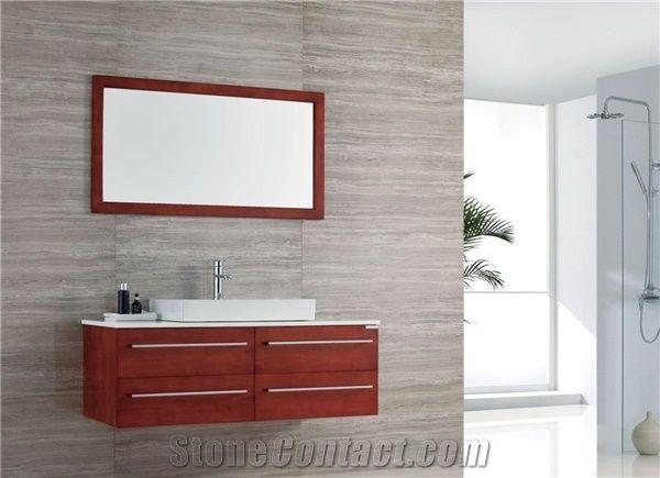 Marble Wooden Grey Tile U0026 Slab For Bathroom Wall Covering Tiles, Honed  Finish