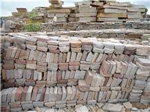 Sandstone Camel Dust Cobbles, Brown Sandstone Cube Stone & Pavers