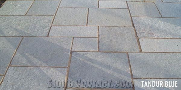 Tandur Blue Natural Pattern Cube Stone Pavers Tandoor