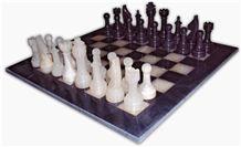Black & White Onyx Chess Set