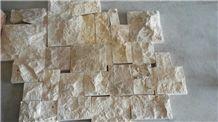 2016 New Chinese Yellow Limestone Mushroom Stone, Yellow Sun Limestone Mushroomed Cladding