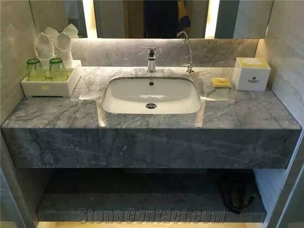 Beautiful Venus Grey Marble Polished Bath Tops Bathroom Vanity Tops From China Stonecontact Com