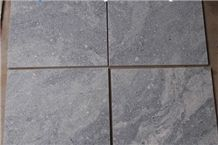 China Dark Steel Grey Granite Slabs & Tiles