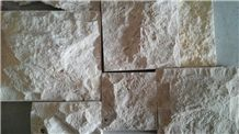 Chinese Yellow Sun Limestone Mushroom Stone Wall Panels