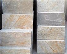 Golden Quartzite Tile, China Yellow Quartzite