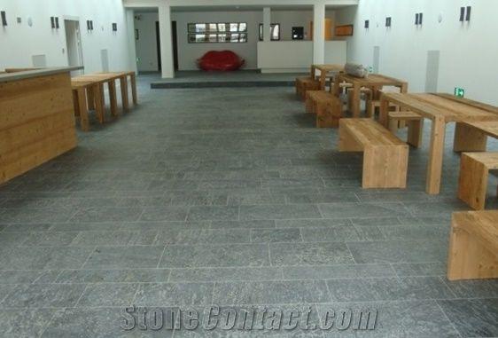 Sondrio Soapstone Floor Tiles Pietra Ollare Grey Slabs Flooring