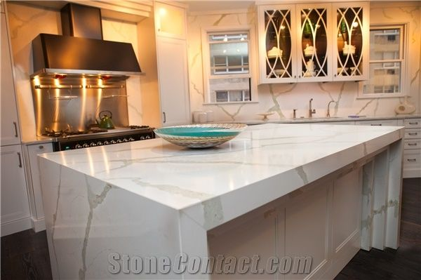 Calacatta White Engineered Quartz Stone Bench Tops