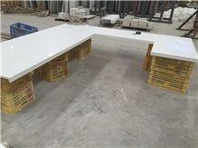 Carrara White Engineered Quartz Stone Kitchen Countertops/Carrara White Quartz Stone Countertops/White Stone Bar Tops/White Quartz Kitchen Island Tops
