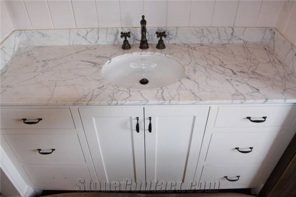 Carrara White Marble Bathroom Vanity Tops Countertops Stone Bath Bianco