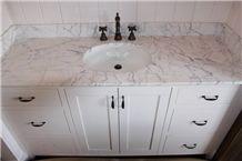 Carrara White Marble Bathroom Vanity Tops/Carrara White Marble Countertops/Carrara White Stone Marble Bath Tops/Carrara Bianco White Marble Bathroom Vanity Tops