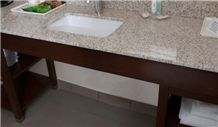 G682 Yellow Granite Bathroom Vanity Tops/Bath Tops/Yellow Sun Set Bathroom Tops/G682 Countertops Bathroom Countertops