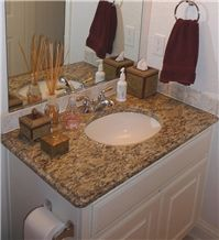 Granite Bathroom Vanity Tops g682 yellow granite bathroom vanity tops/bath tops/yellow sun set