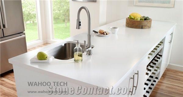 Pure White Quartz Stone Bench Tops