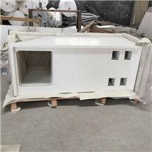 White Engineered Stone Quartz Countertops/ White Caesar Quartz Stone Kitchen Tops/Pure White Artificial Stone Countertops/Engineered Stone Quartz Kitchen Tops/White Quartz Stone Kitchen Island Tops