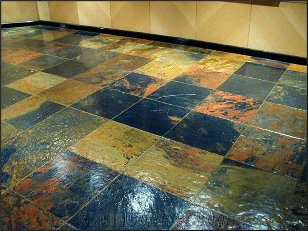 African Multicolor Slate Floor Tiles Wall Tiles From