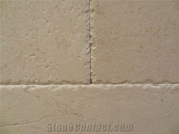 Limestone Chiseled Edge Pattern