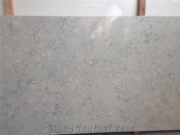 Bianco Drift Quartz Stone Tile Slab Engineered Stone From