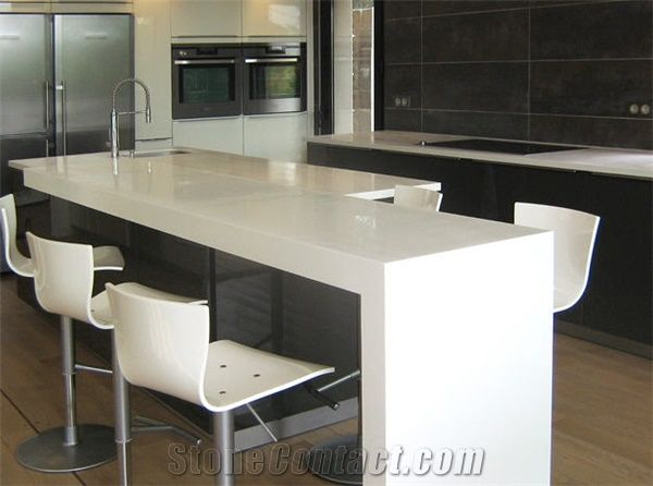 Corian Solid Surface Kitchen Tops White Stone