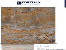 Illusion Blue Quartzite Slabs, Blue Illusion