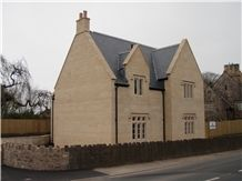 Doulting Stone Ashlar House Project, Beige Limestone Building & Wallings