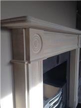 Doulting Stone Hand Carved Fireplace Mantel