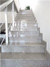 Granito Branco Siena Staircase, Siena White Granite Stairs