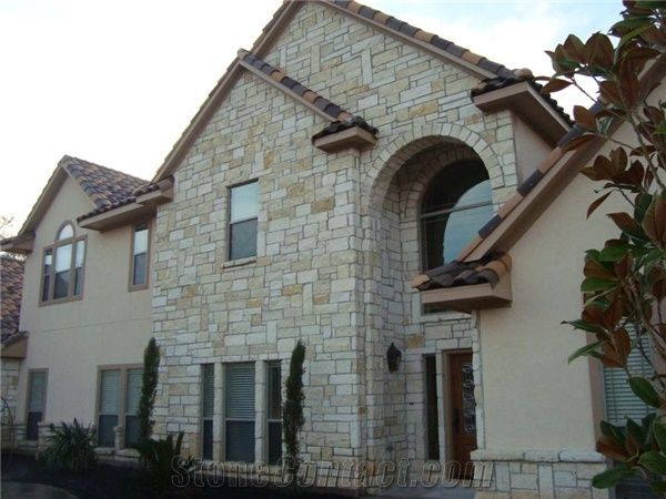 Stone Stucco Home With A Limestone Texas Mix And Grey