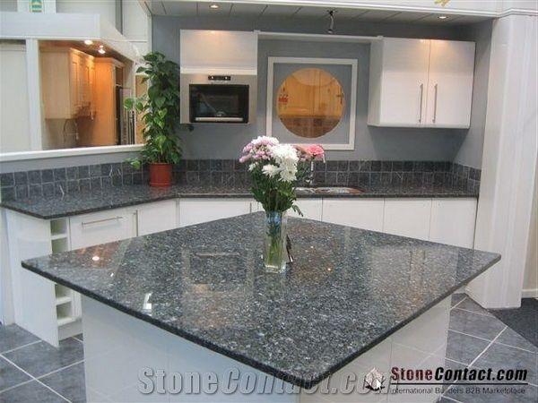 Best Polished Blue Pearl Granite Kitchen Countertop Labrador