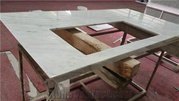 Incredible White Marble Bench Top Kitchen Countertop From China Short Links Chair Design For Home Short Linksinfo