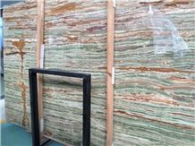 Onice Verde Smeraldo Onyx High Polished Slabs / Cut to Size .Onyx Tiles for Flooring