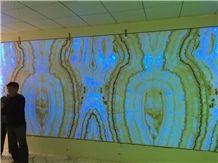 Rainbow Onyx Slabs & Tiles, Onyx Wall Covering