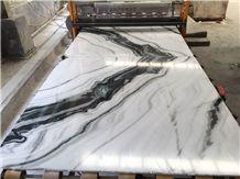 White Marble , Panda White Marble Tile & Slab , White with Black Net Viens, Panda White Jade Marble