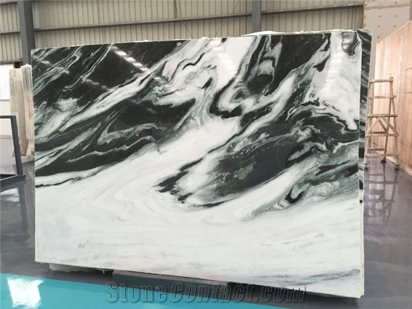 New Production Dalmata Marble China Panda White Marble Slab A Grade For Wall Floor Cut To